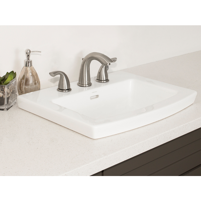 Project Source Cavallie Square Drop-in Sink - Porcelain
