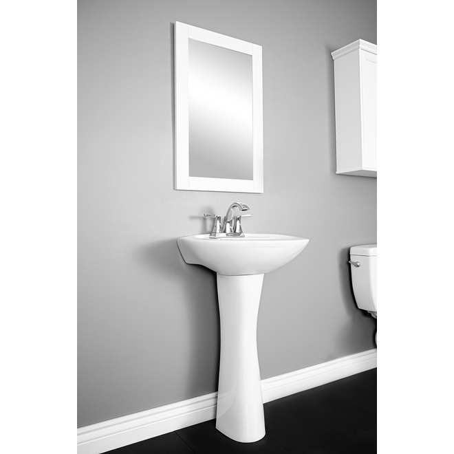 Project Source Pedestal Sink - Porcelain - 31.5-in - White