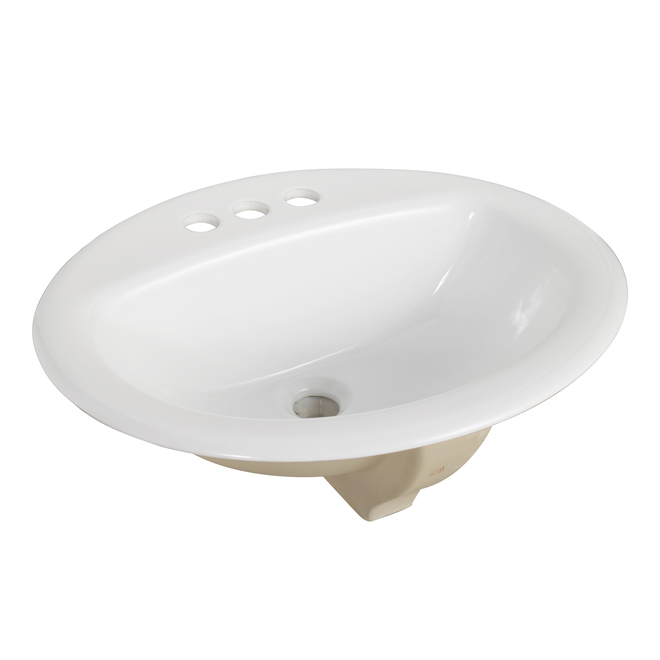 Project Source Oval Drop-in Lavatory - Vitreous China