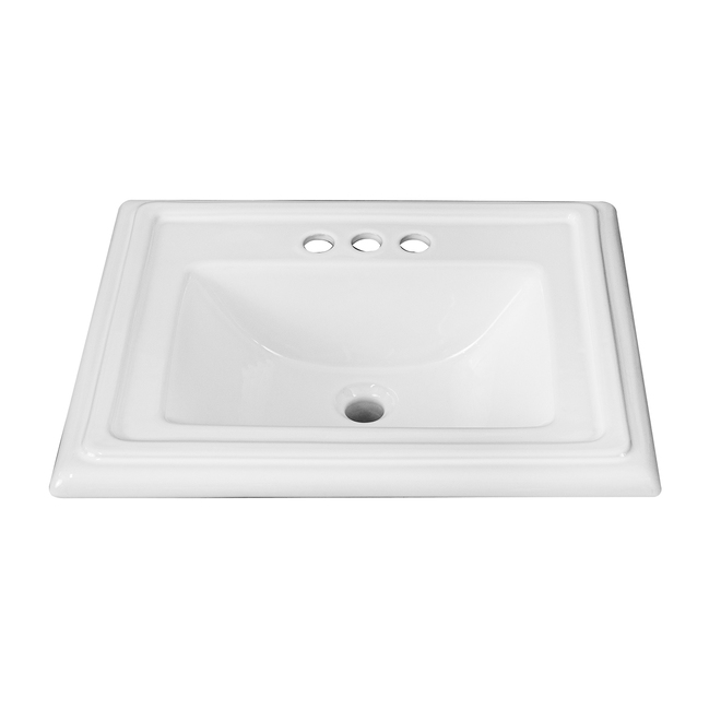 Project Source Castille Square Drop-in Sink - Vitreous China