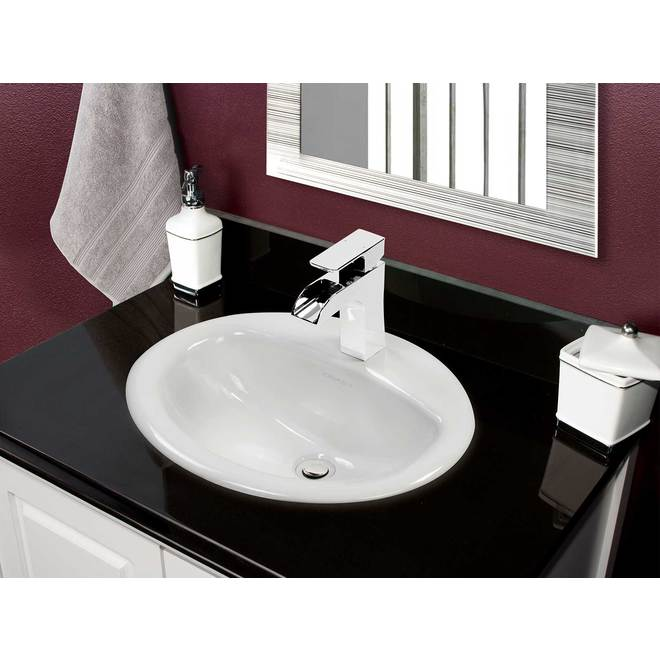 Project Source Velsen Round Drop-in Lavatory - Vitreous China