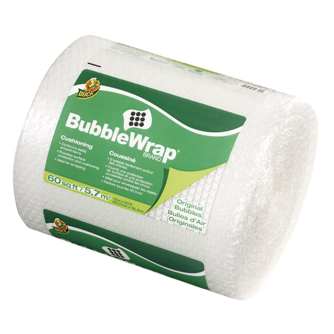 Duck All Purpose Bubble Wrap - 12-in x 60-ft - Clear
