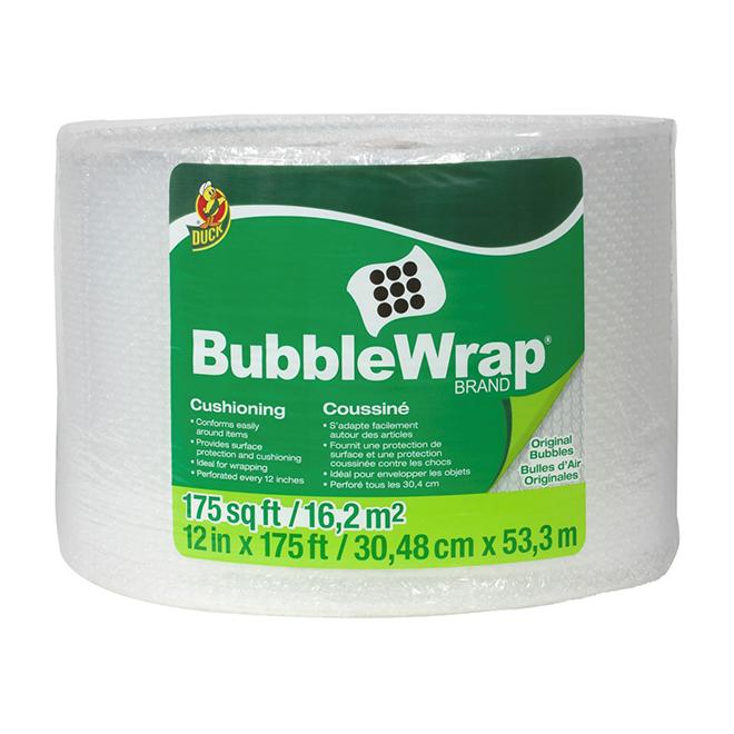 "Emballage de film à bulles d'air, 12"" x 175'"