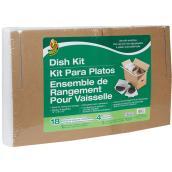 Protection pour vaisselle Duck, 12 x 16 x 12 po, 18 pochettes, 4 séparateurs