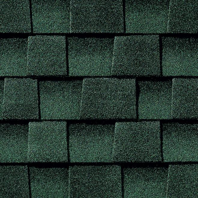 Bardeau de toiture Timberline(MD) en asphalte, vert chasseur