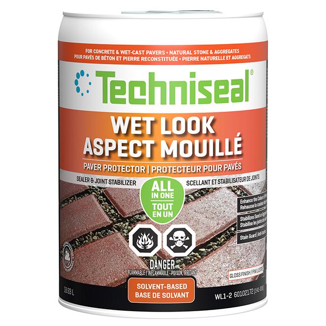Wet Look Concrete Paver Protector