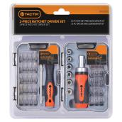 Ratcheting Screwdriver and Ratchet Driver Set -45 Pieces