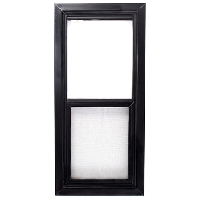 Fenêtre de cabanon à ouverture verticale, 17'' x 35'', PVC