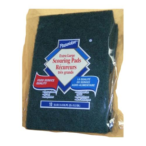 Paquet de 10 tampons à récurer très grand format