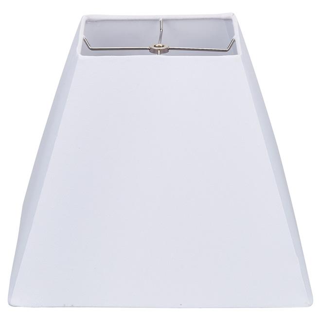 """Abat-jour carré en lin, 13"""", blanc"""