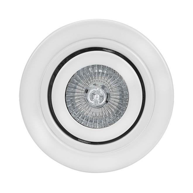 """Luminaire encastré à cardan, 4"""", blanc"""