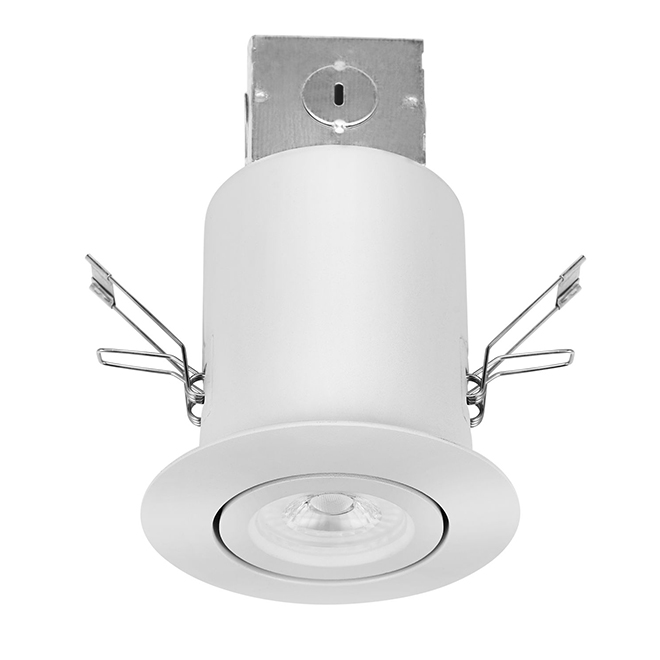 "Gimbal Trim Recessed Light Kit - LED - 3"" - White"