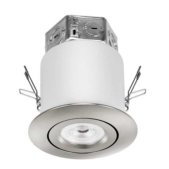 lighting for small bathrooms gimbal trim recessed light kit led 4 quot nickel rona 19277