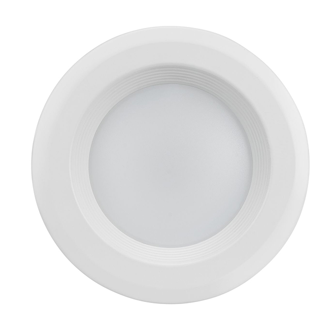 """Luminaire encastré avec déflecteur, DEL, 4"""", blanc mat"""