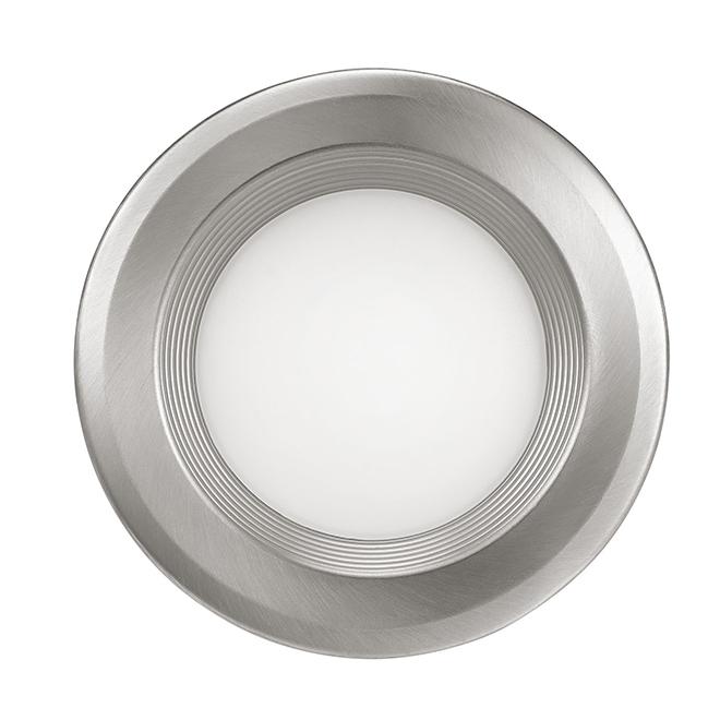 """Luminaire encastré avec déflecteur, DEL, 4"""", nickel brossé"""