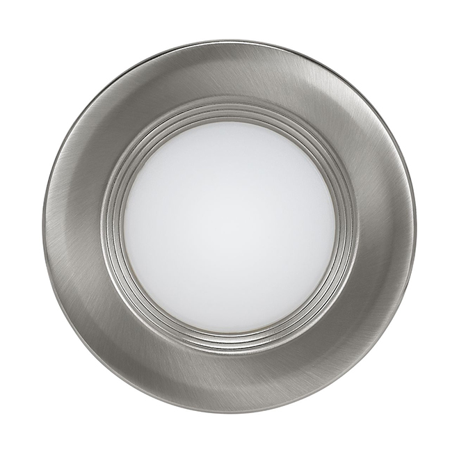 "Recessed Light with Baffle - LED - 3"" - Brushed Nickel"