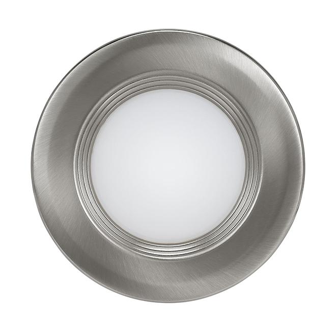 """Luminaire encastré avec déflecteur, DEL, 3"""", nickel brossé"""