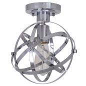 Flushmount - 1Light - Metal - Chrome