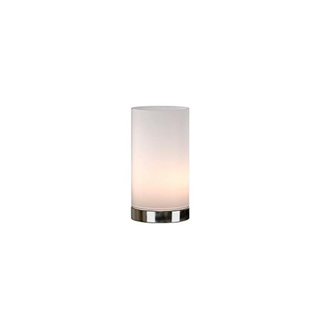 """Lampe de table, verre givré, 9"""", blanc"""