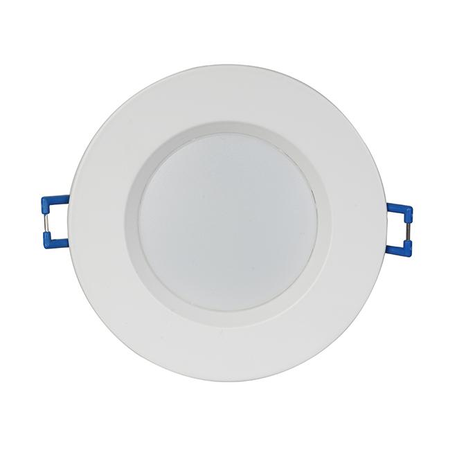 """Luminaire encastrable DEL, contrôle temp/couleur, 3"""", blanc"""