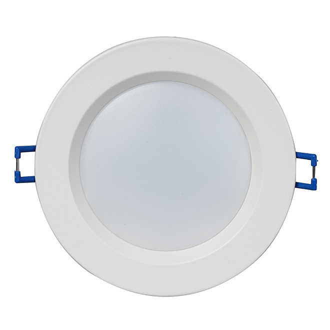 """Luminaire encastrable DEL, contrôle temp/couleur, 4"""", blanc"""