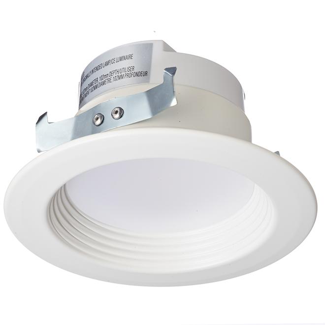 """Luminaire encastrable DEL, contrôle watt/couleur/temp, 4"""""""