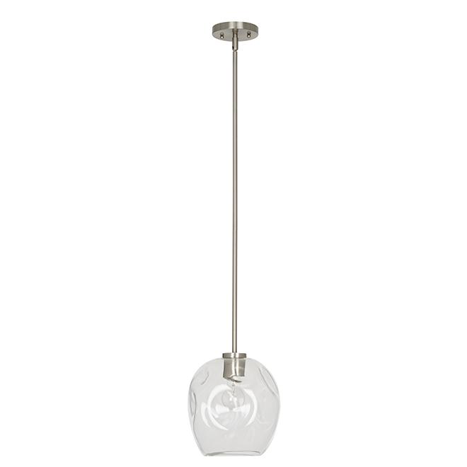 Luminaire de suspension Catalina, 1 lumière, nickel brossé