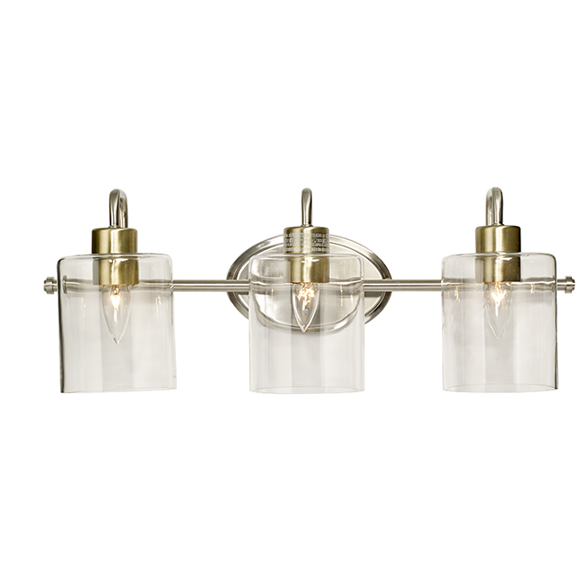 Catalina Vanity Light 3 Lights 25 Brushed Nickel 22247 000 Rona