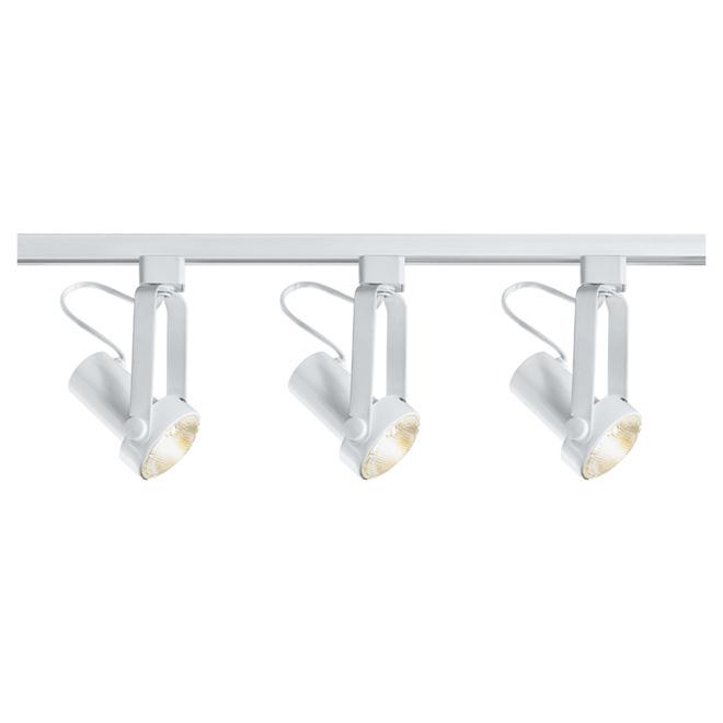 white linear track lighting. 3-Light Step Linear Track Lighting Kit - White L