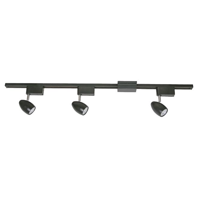 3 light step linear track lighting kit black rona