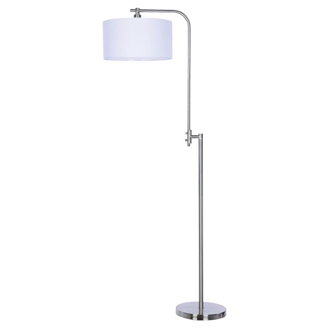 Lampe ajustable sur pied, 100 W, nickel brossé