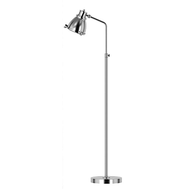Lampe sur pied ajustable, 60 W, chrome