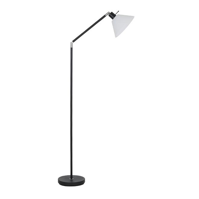 Lampe torchère ajustable, Catalina, noir, 100 W