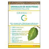 Granules de bois franc, 40 lb