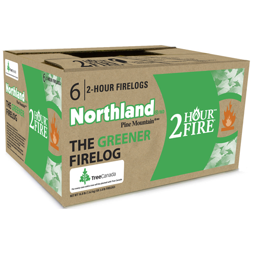 Northland Fireplace Logs 2 Hours Box Of 6 4152501281