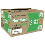 Fireplace logs - 2 hours - Box of 6