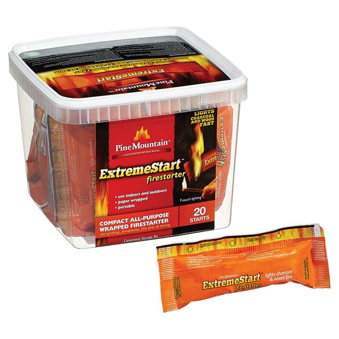 Pine Mountain Extremstart(TM) Fire Starter - pk/20 4152501042