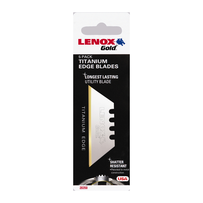 Lenox Replacement Blades for Utility Knife - Bi-Metal - 5/Pack