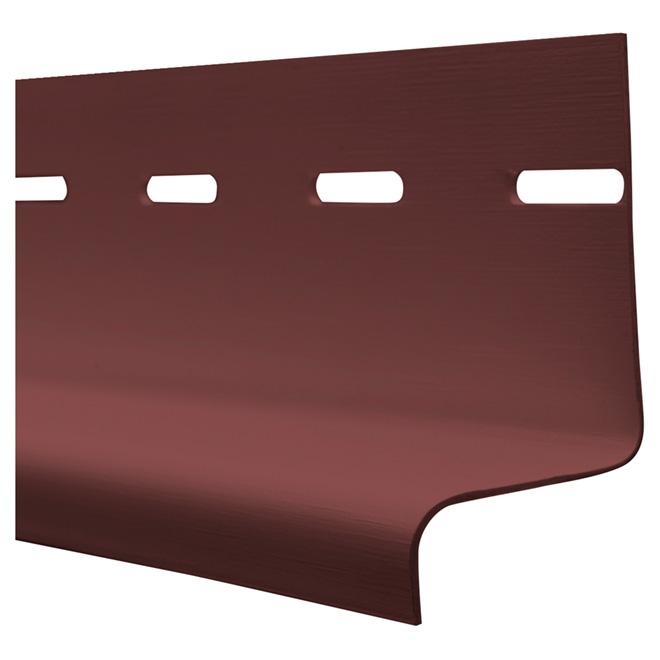 """Moulure d'égouttement en vinyle rouge Richmond, 1 1/4"""" x 12'"""