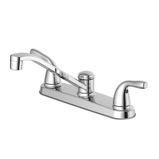 Kitchen Faucet - 2 Handle - Zinc/Plastic - 8'' - Chrome
