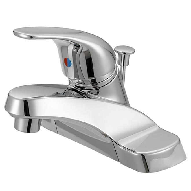 Robinet de lavabo Project Source, chrome poli, 1 poignée, transitionnel