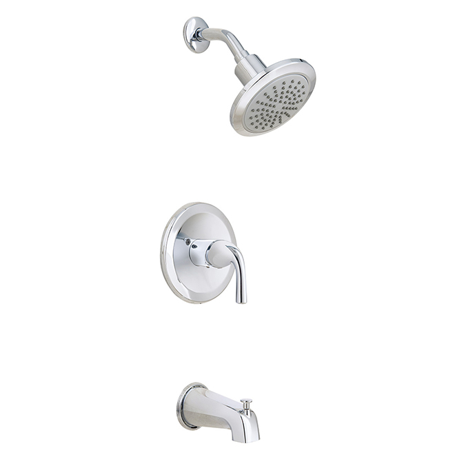 Project Source Mistry Tub and Shower Faucet - 1 Handle - Chrome