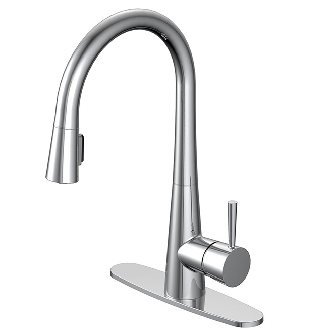 Pull-Out Kitchen Faucet - Single-Lever - Chrome Finish