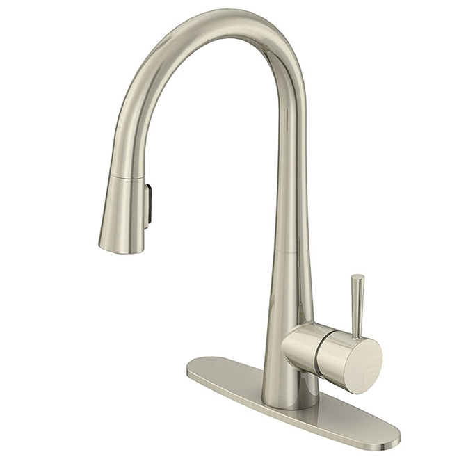 Pull-Out Kitchen Faucet - Single-Lever - Brushed Nickel