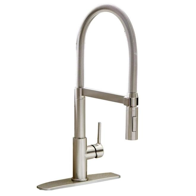 Allen + Roth Spring Kitchen Faucet - Swing Arm 1 Handle - Chrome