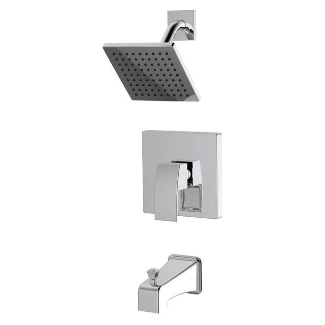Allen + Roth Amari 1 Handle Tub-Shower Faucet - Chrome