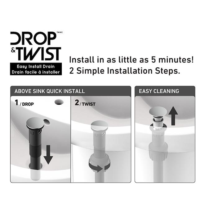 Allen + Roth Veda 1-Handle Bathroom Faucet - Matte Black