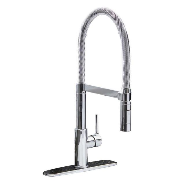 Allen + Roth Rhys Kitchen Faucet - Swing Arm - 1-Handle - Polished Chrome