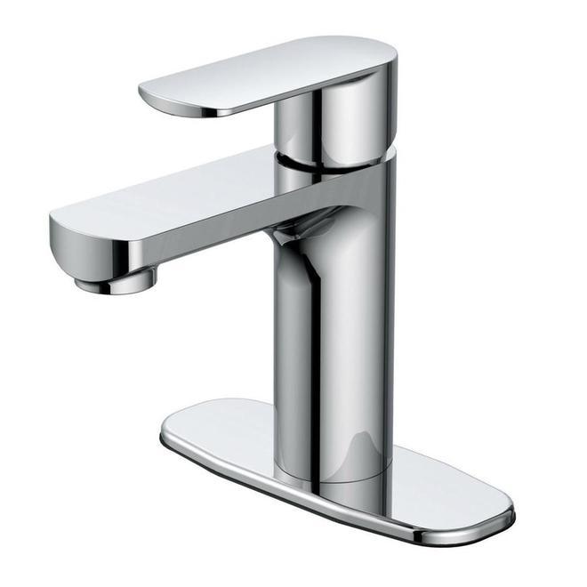 Robinet lavabo à 1 poignée, Allen + Roth, Hali, métal, chrome