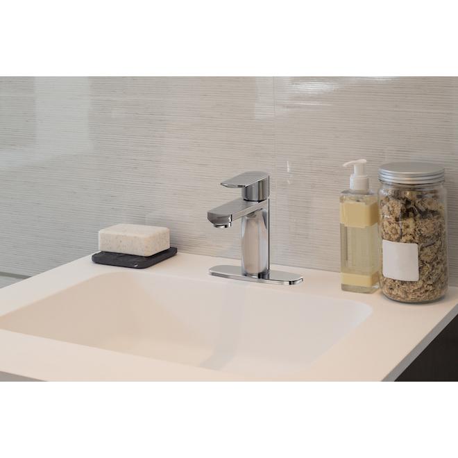 Robinet de lavabo à 1 poignée Allen + Roth Hali, chrome